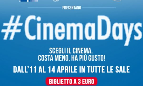 CinemaDays: tutto a 3 euro!
